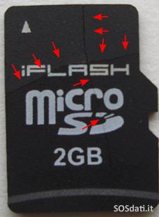 MicroSD spezzata